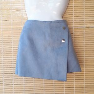 Zara Shorts - ZARA faux suede skort in size medium